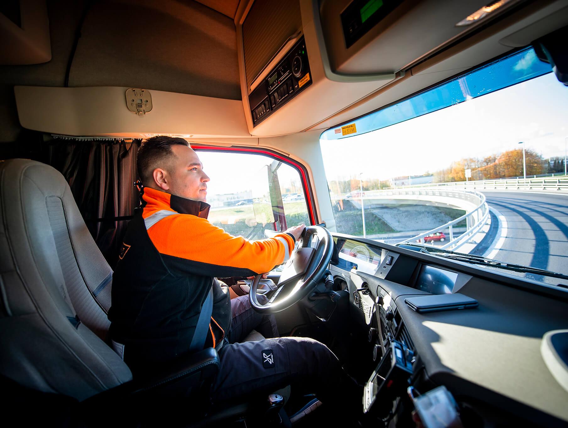 Hyr din lastbilsförare för transport av gods